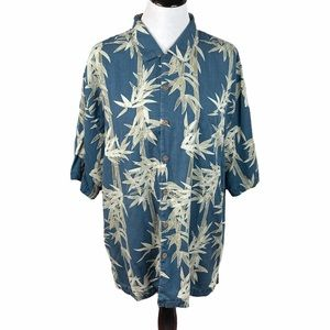 Jamaica Jaxx Bamboo Button Down Shirt, Blue, XXL